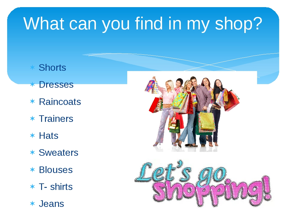 Shorts Dresses Raincoats Trainers Hats Sweaters Blouses T- shirts Jeans Diffe...