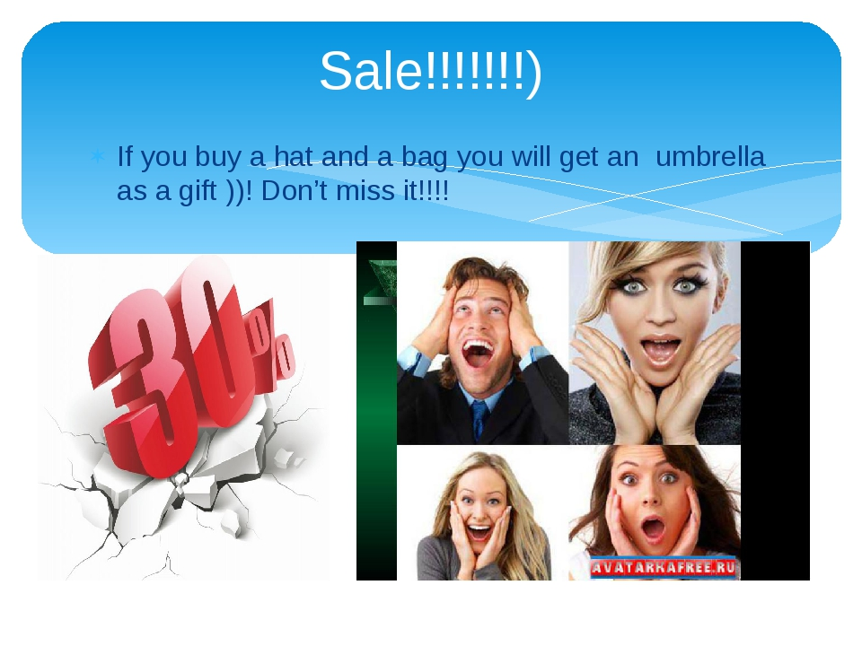 If you buy a hat and a bag you will get an umbrella as a gift ))! Don't miss...