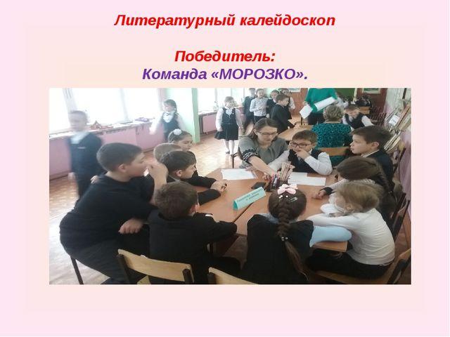 Литературный калейдоскоп Победитель: Команда «МОРОЗКО».