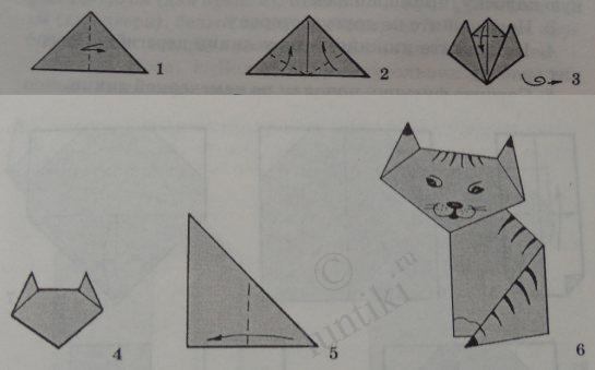 Как сделать своими руками из бумаги кошку