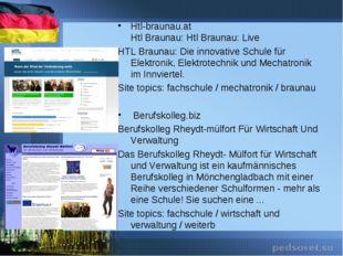 Htl-braunau.at Htl Braunau: Htl Braunau: Live HTL Braunau: Die innovative Sch