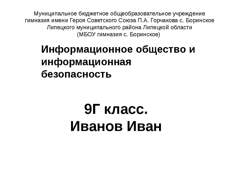Муниципальное бюджетное общеобразовательное учреждение гимназия имени Героя С...