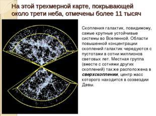 На этой трехмерной карте, покрывающей около трети неба, отмечены более 11тыс