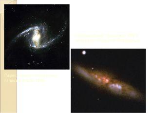 Пересеченная спиральная галактика NGC1365 Неправильная галактика M82 в созвез