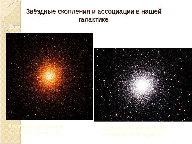 Звёздные скопления и ассоциации в нашей галактике Шаровые скопления – старейш...