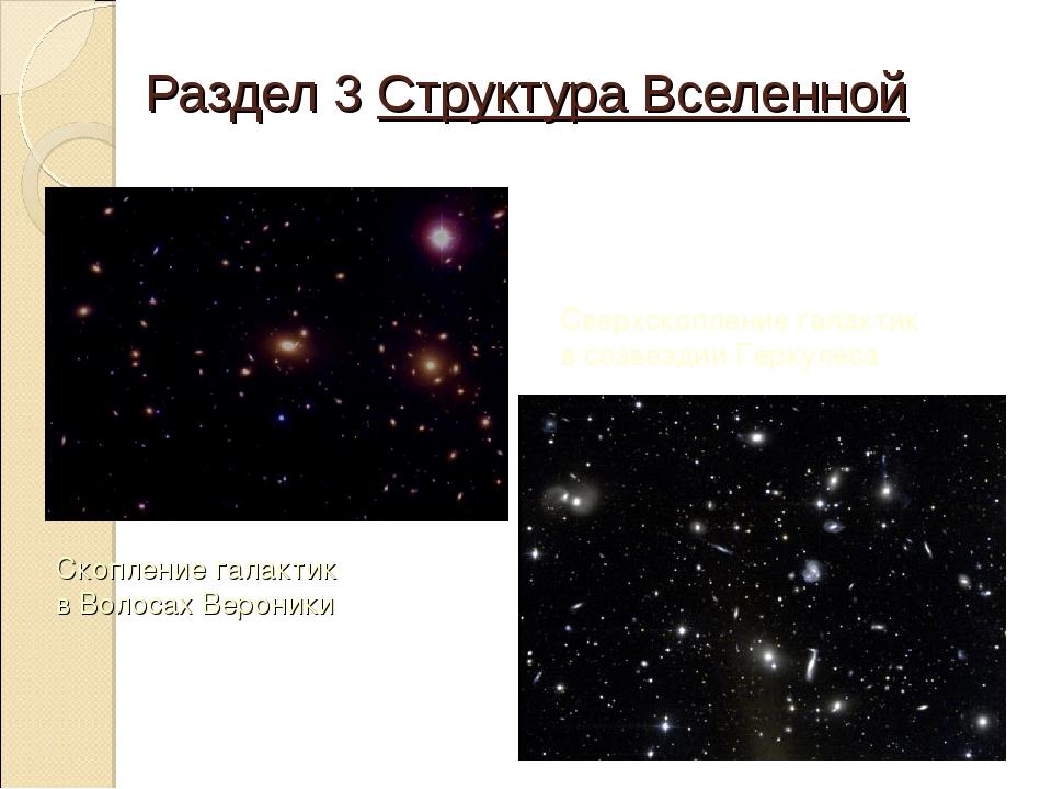 Раздел 3 Структура Вселенной Скопление галактик в Волосах Вероники Сверхскопл...