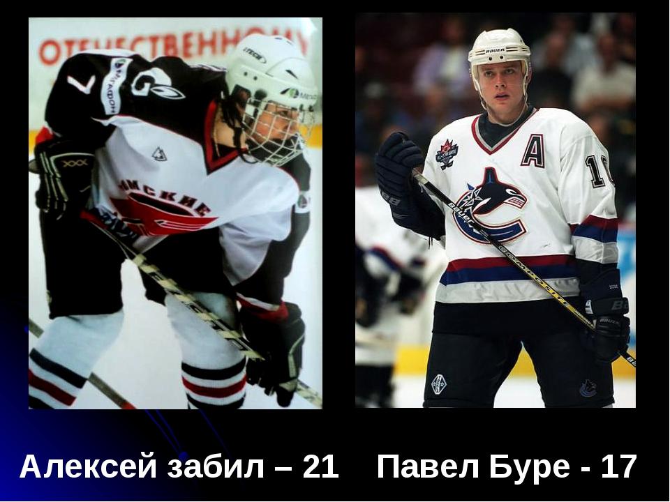Алексей забил – 21 Павел Буре - 17