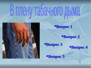 Вопрос 1 Вопрос 2 Вопрос 3 Вопрос 4 Вопрос 5