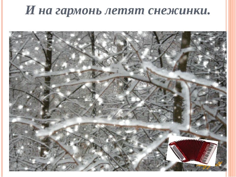И на гармонь летят снежинки.