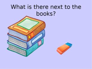 What is there next to the books?