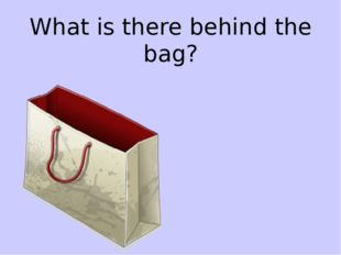 What is there behind the bag?