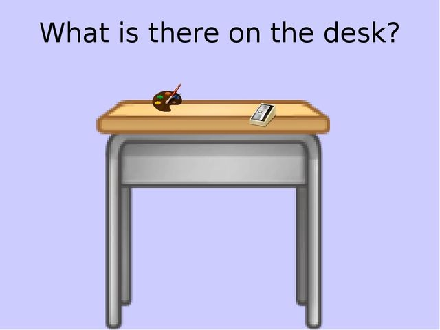 What is there on the desk?