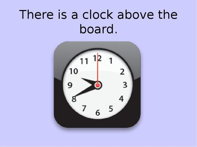 There is a clock above the board.