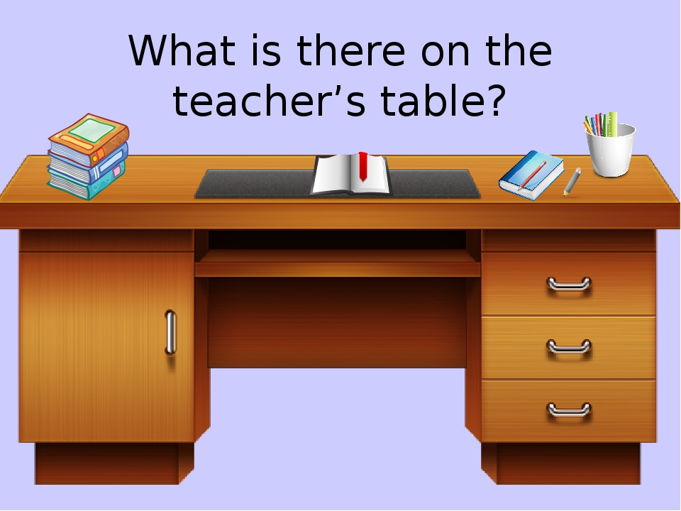 What is there on the teacher's table?