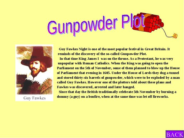 Guy Fawkes Night is one of the most popular festival in Great Britain. It re...