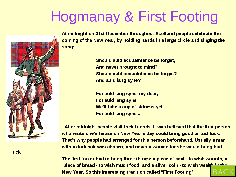 Hogmanay & First Footing At midnight on 31st December throughout Scotland pe...