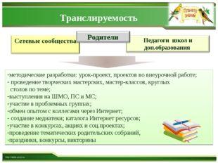 Транслируемость http://aida.ucoz.ru методические разработки: урок-проект, про