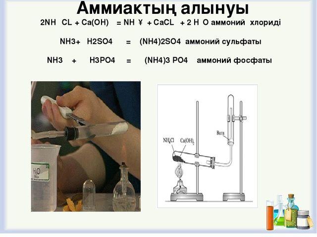 Аммиактың сулы ерітіндісін тұрмыста мүсәтір спирті деп атайды.