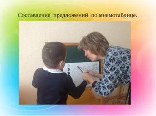 - Составление предложений по мнемотаблице. .