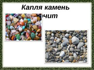 Капля камень точит