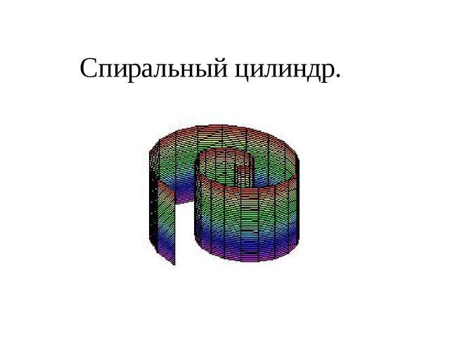 Спиральный цилиндр.