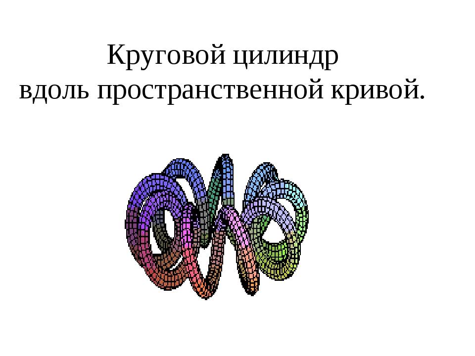 Круговой цилиндр вдоль пространственной кривой.