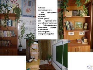 Кабинет и находящиеся в нем материалы, средства обучения используются для пре