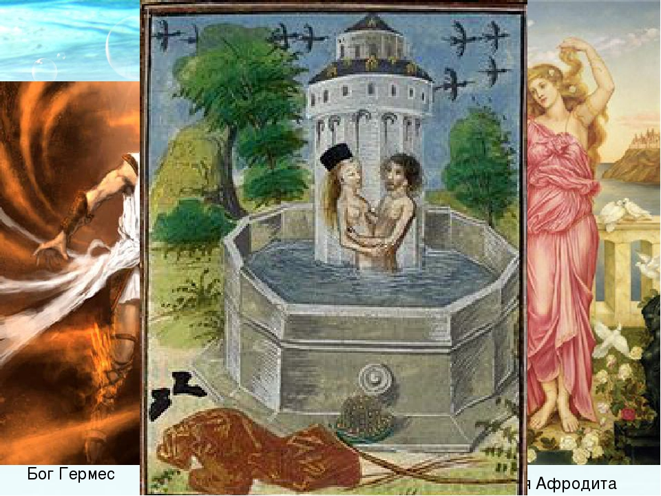 Бог Гермес Богиня Афродита
