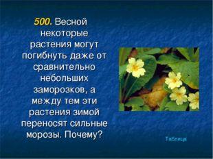 500. Весной некоторые растения могут погибнуть даже от сравнительно небольших