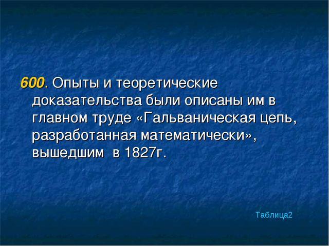 600. Опыты и теоретические доказательства были описаны им в главном труде «Га...