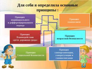Для себя я определила основные принципы : Принцип индивидуального и дефференц