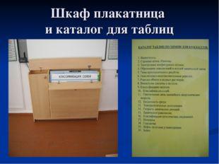 Шкаф плакатница и каталог для таблиц