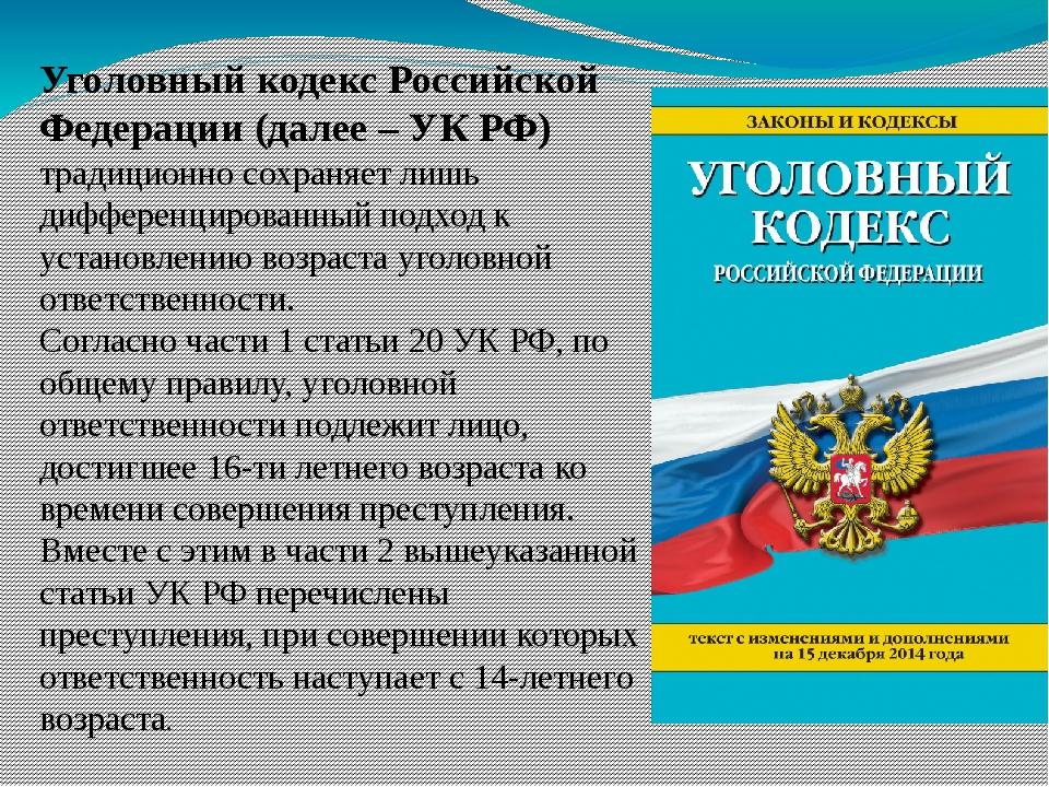 Уголовный кодекс Российской Федерации (далее – УК РФ) традиционно сохраняет л...