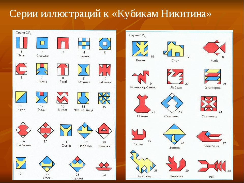 Серии иллюстраций к «Кубикам Никитина»