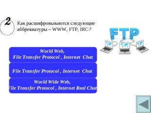 World Wide Web, File Transfer Protocol , Internet Real Chat File Transfer Pr