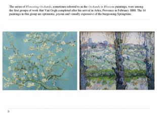 The series of Flowering Orchards, sometimes referred to as the Orchards in Bl