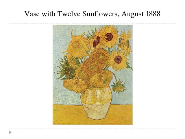 Vase with Twelve Sunflowers, August 1888