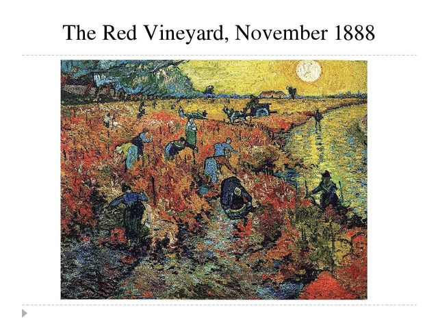 The Red Vineyard, November 1888