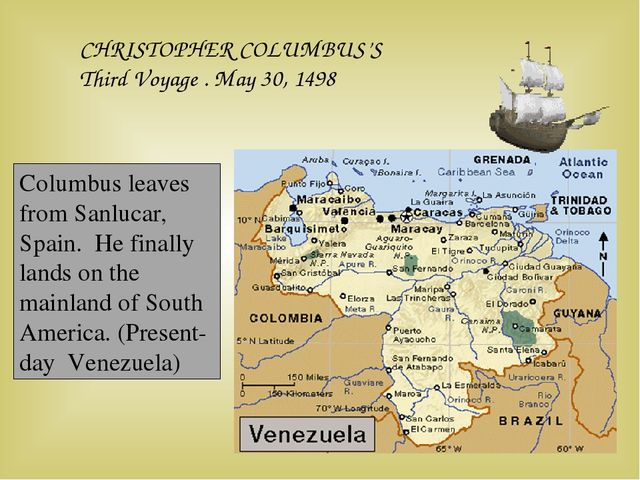 CHRISTOPHER COLUMBUS'S Third Voyage . May 30, 1498 Columbus leaves from Sanlu...