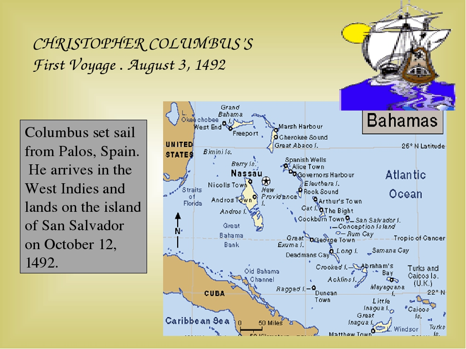 CHRISTOPHER COLUMBUS'S First Voyage . August 3, 1492 Columbus set sail from P...