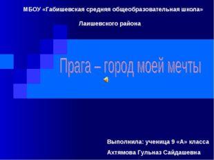 МБОУ «Габишевская средняя общеобразовательная школа» Лаишевского района Выпо