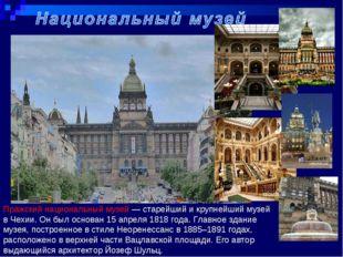 Пражский национальный музей — старейший и крупнейший музей в Чехии. Он был ос