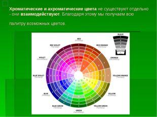Хроматические и ахроматические цветане существуют отдельно - онивзаимодейст