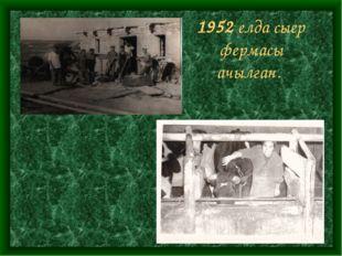 1952 елда сыер фермасы ачылган.