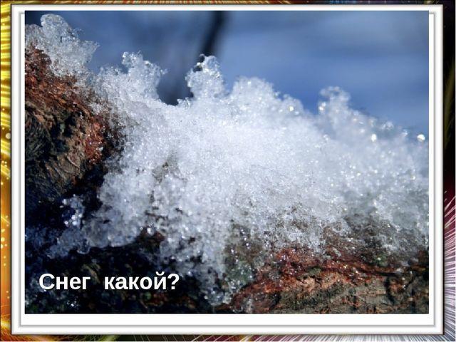 Снег какой?