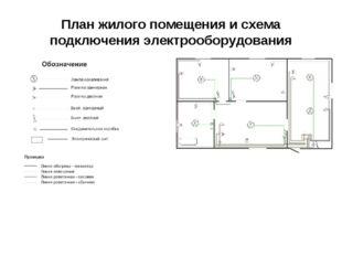 План жилого помещения и схема подключения электрооборудования