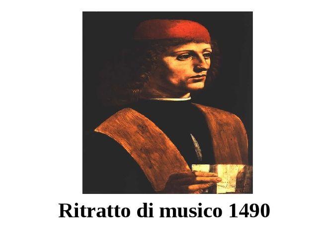 Ritratto di musico 1490