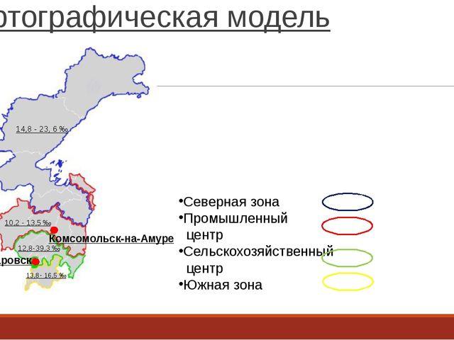 Картографическая модель Комсомольск-на-Амуре Хабаровск Северная зона Промышле...