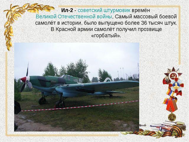 Ил-2-советскийштурмовиквремён Великой Отечественной войны, Самый массовый...