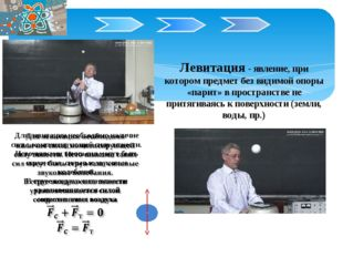 Левитация - явление, при котором предмет без видимой опоры «парит» в простра